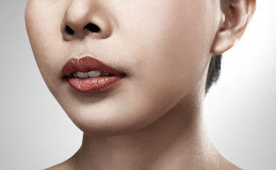 Image of pretty asian woman lips