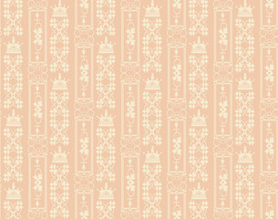 Wallpaper For Home Seamless Pattern Pastel Orange Abstract Background