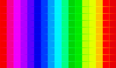 Abstract square rainbow color pixels background