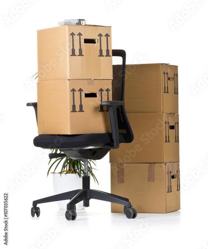 office move photo libre de droits sur la banque d 39 images image 107035622. Black Bedroom Furniture Sets. Home Design Ideas