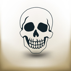 pictogram black skull