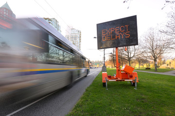the image of traffic delay led sign