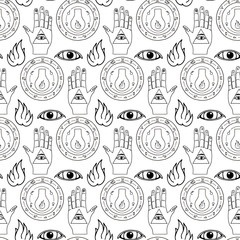 Seamless pattern all seeing eye