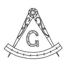 Masonic Freemasonry Emblem