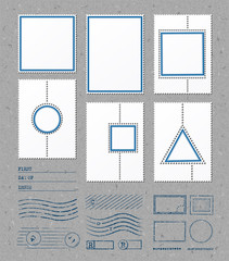 Blank stamps frames. Vector templates with place for your images and text