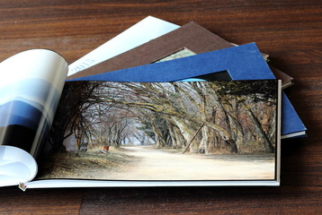 Part of My Travel Photo Books Showing Autumn Scenery Landscape