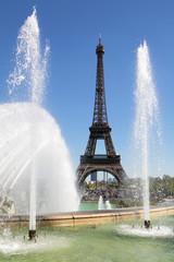Eiffel Tower trocadero fountains
