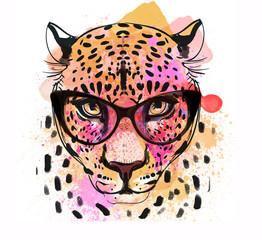 guepard character colorful portrait