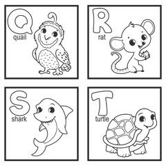 An alphabet with cute animals
