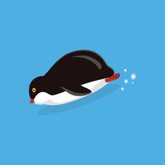 Animal Pinguin Design Flat