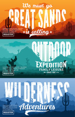 Desert Horizontal Banner Set