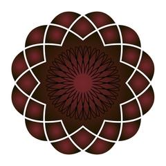 Декоративное готическое украшение. Красный и черный. вектор, иллюстрация.