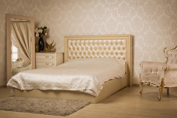 Interior of a vintage style bedroom