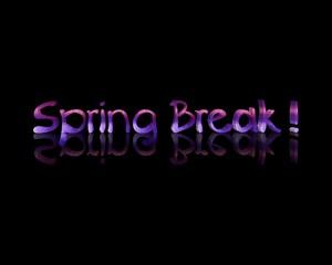 spring break   3d word