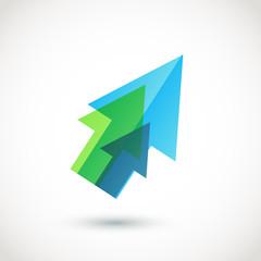 Abstract arrow logo. Vector