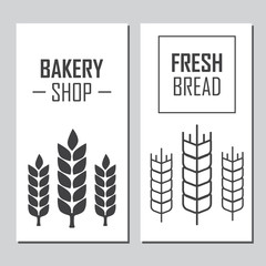Hand drawn bread horizontal banners