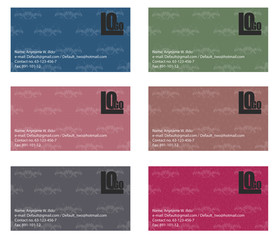 business card sample vector art
