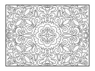 Carpet coloring book for adults vector