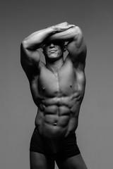 Fotobehang womenART Muscular body