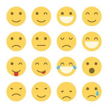 Emoji faces icons