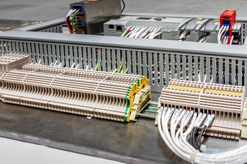 close up control panel assembly with wire and terminal box, meas