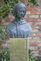 Garden Poster Historic monument Büste von Florence Nightingale Burgallee an der Kaiserpfalz Kaiserswerth Düsseldorf