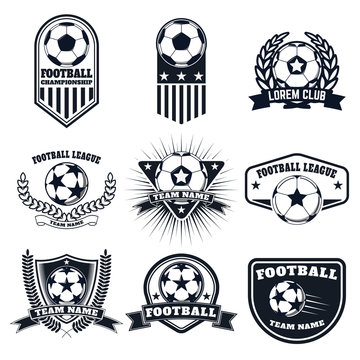 Set of the  football labels, emblems and design elements. Soccer