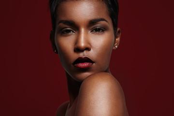 gorgeous black woman's portrait