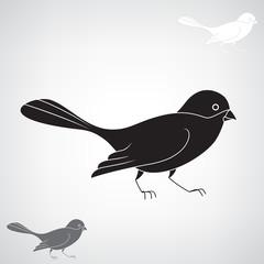 Black silhouette of a bird.