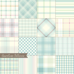 Checked Seamless Patterns