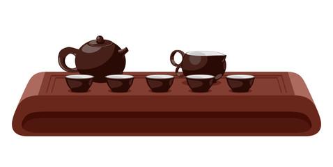 Tea ceremony. Vector illustration.