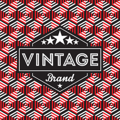 Vintage label with seamless pattern background. Ideal for packaging designs