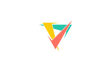 check colorful triangle logo