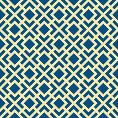 Abstract Seamless Geometric Art Deco Lattice Vector Pattern