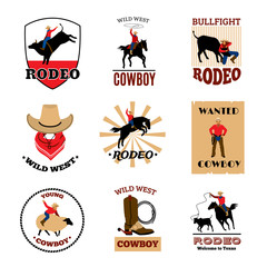 Emblems Set Of Rodeo