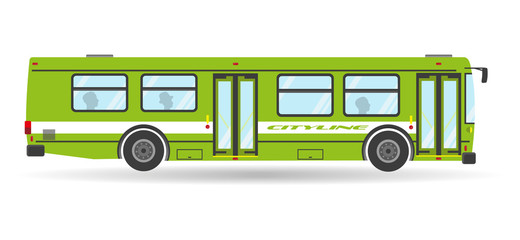 Vector transit bus public city transportation isolated travel vehicle icon