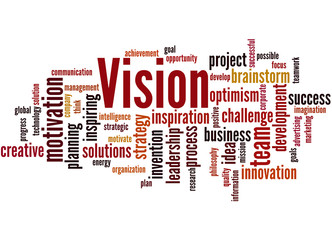 Vision, word cloud concept 9