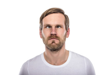 Man with his eyes crossed.