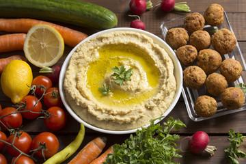Hummus and falafel