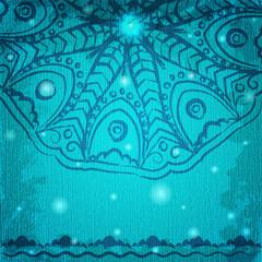 Romantic card with filigree ornament