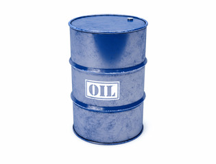 Isolated 3D Oil Barrel