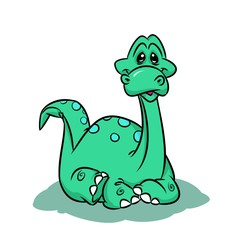 Dinosaur surprise cartoon illustration  animal character