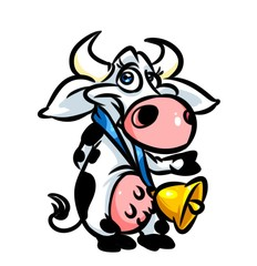 Cow parody cartoon illustration isolated image animal character
