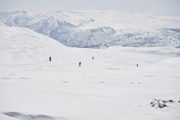 大雪山・旭岳でのスノースクート