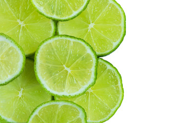 Lime isolated on white background with copy space