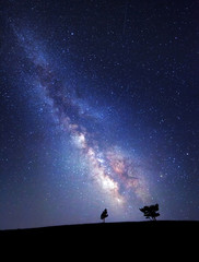 Milky Way. Beautiful summer night sky with stars. Background