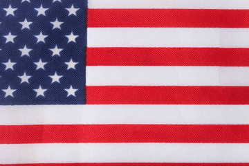Texture of american flag on a cloth for background