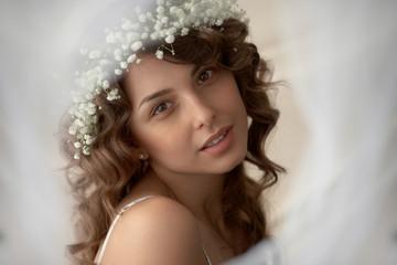 Portrait of girl in soft