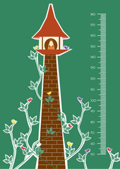 ower,Meter wall or height meter from 50 to 180 centimeter,Vector illustrations