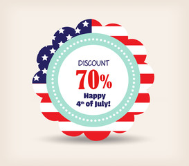 4th July Happy Memorial Day badges and label